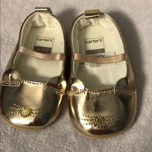 Carters 0-3 month crib shoes